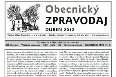 Zpravodaj duben 2012