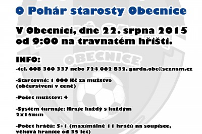 6. ročník turnaje starých gard O pohár starosty Obecnice