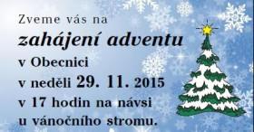Zahájení adventu 2015