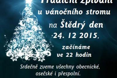 Tradiční zpívání u stromečku na Štědrý den