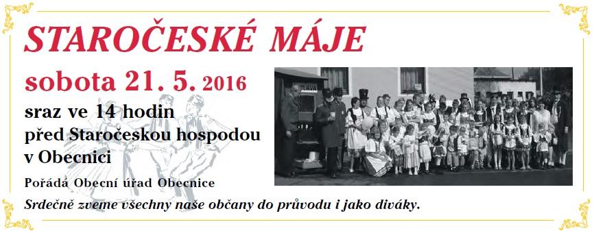 Pozvánka Máje 2016