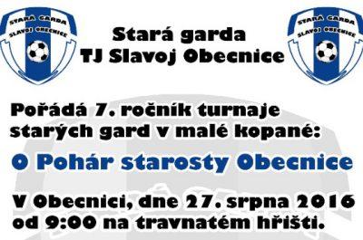 O pohár starosty Obecnice – 7. ročník turnaje starých gard