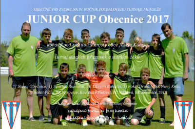 JUNIOR CUP Obecnice 2017