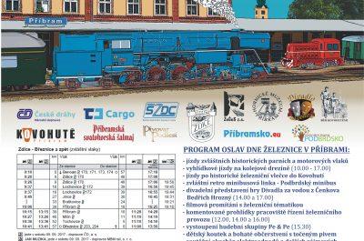 Oslavy dne železnice v Příbrami