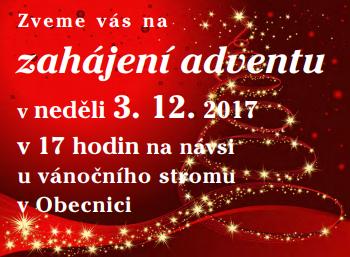 Zahájení adventu v Obecnici