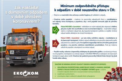 Minimum zodpovědného přístupu k odpadům v době nouzového stavu v ČR
