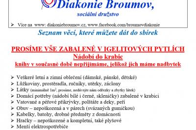 Sbírka – Diakonie Broumov