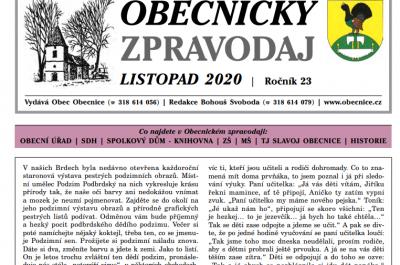 Zpravodaj Listopad 2020
