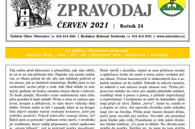 Obecnický zpravodaj – Červen 2021